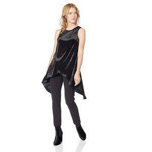 Adrianna Papell Knit Crepe Velvet Jumpsuit NWT